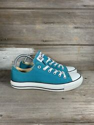 CONVERSE All Star Womens Sneaker Shoe Canvas Low Top Aqua Blue Lace Up Size 10 $39.98