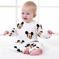 Baby Winter Rompers Newborn Unisex Clothing Infant Jumpsuit Mickey Outfits $20.99