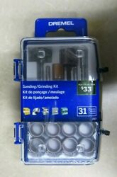Dremel Sanding Grinding 31 Pieces Rotary Accessory Micro Kit New in Sealed Case $10.99