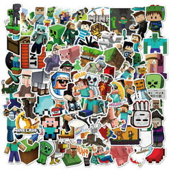 100pcs Game Minecraft Stickers for Car Skateboard Laptop Luggage Scooter Vinyl $8.99