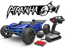 Redcat Racing Piranha TR10 1 10 Scale RTR Brushed Electric RC Truggy Blue NEW $119.99