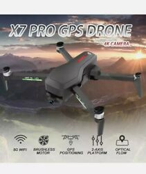 CSJ X7 PRO GPS RC Drone Camera 4K 5G Wifi Quadcopter Gesture Video2Battery P8T2 $174.00
