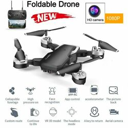 HJ28 FHD 1080P Foldable WIFI GPS FPV RC Quadcopter Camera Remote Drone Black $45.99