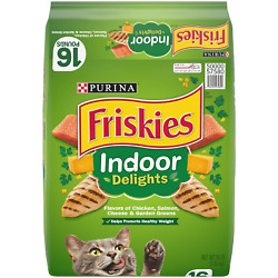 NEW Friskies Indoor Dry Cat Food Indoor Delights 16 lb. Bag $16.00