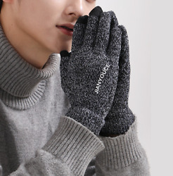 Winter Gloves Cold weather Knit Touchscreen Thermal soft liner ski Full fin $6.99