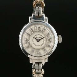 1910#x27;s antique Antique Longines Diamond Dial Platinum Stem Wind Wristwatch $559.89
