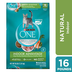 Purina ONE Hairball Weight Control Natural Dry Cat Food Indoor Ad 16 lb. Bag $32.99