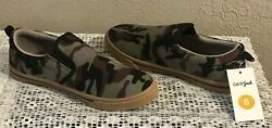 NEW CAT amp; JACK BIG BOYS JAIME CAMO CAMOUFLAGE SLIP ON SNEAKERS SHOES SIZE 5 NWT $12.99