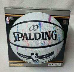 Spalding Official NBA Basketball : Marble Series 29.5quot; White Color Infused NEW $34.99