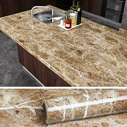 VEELIKE Brown Marble Contact Paper Peel and Stick Countertop Granite Wallpaper $18.06