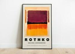 Mark Rothko Art Poster High Quality No Frame Poster Wall Art Decor Poster $19.80