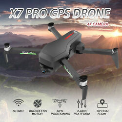 CSJ X7 PRO GPS RC Drone Camera 4K 5G Wifi 2Axis Gimbal Brushless Quadcopter G5D4 $194.75