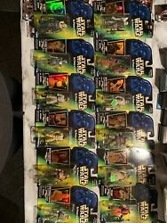 Lot of 12 Star Wars: Power of The Force Action Figures Kenner Green Card. $48.00