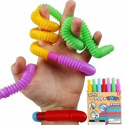 Mini Pop Tubes Fidget Toys for Kids and Adults Toys Occupational Therapy 8 Pack $20.90