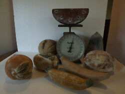 8 Lot LG Rustic VINTAGE Mexican Folk Art TERRA COTTA Fruits TUSCAN ITALIAN Decor $49.99