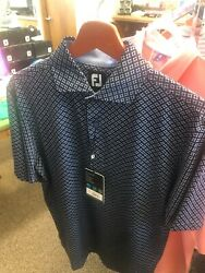 FootJoy Lisle Ogee Print Performance Golf Shirt Small NEW $45.99