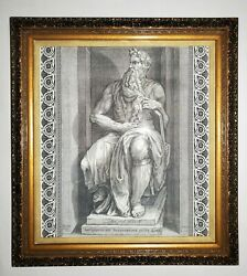 Moises by Michelangelo HD Engraving A Masterpiece for your Livingroom Art $199.00
