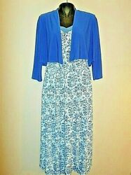 M Antthony Women#x27;s Floral Print V Neck Maxi Dresses with Jacket 2PC NEW $10.99