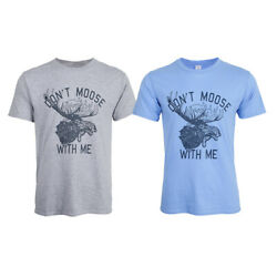 Novelty Women Graphic T Shirt Don#x27;t Moose With Me Tee Short Sleeve Summer $14.23