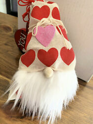 Valentine Gnomes Decoration Rustic Decor Valentines Day Gnome FREE SHIPPING $15.90