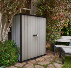 Keter Locking High Store Outdoor Storage Shed w Heavy Duty Floor Panel Patio $429.99
