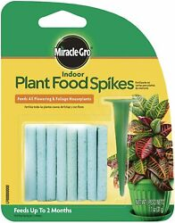 Miracle Gro Indoor Fertilizer Plant Food With 24 Spikes Fast Grow Plants 1 Pack $5.97