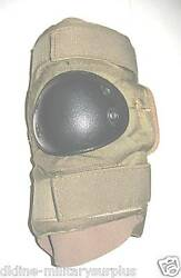 NEW USGI ARMY Military Surplus Coyote Tactical Elbow Pads LARGE Black Cap $7.28