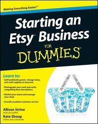 Starting an Etsy Business For Dummies $6.29
