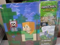 Minecraft Kids Deluxe Stationery Set Over 500 Pieces Coloring amp; Activity Sheets $19.99