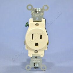 Leviton Light Almond COMMERCIAL Single Outlet Receptacle 5 15R 15A Bulk 5015 T
