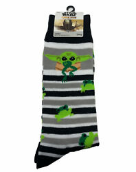New Disney Star Wars Baby Yoda Men Novelty Socks WITH FROGS THE MANDALORIAN $12.99