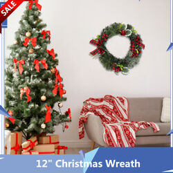 12quot; Christmas Wreath Apple Raspberry With Red Bows Decoration Home Party Article $24.99