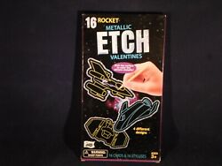 16 Rocket Metallic Etch Valentines For Ages 3  T5 5 $5.99