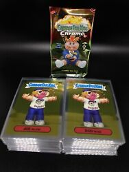 2020 Topps Garbage Pail Kids Chrome 3 Complete 100c Base Set CLEANED amp; SLEEVED $25.50