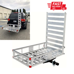 Hitch Mount Cargo Carrier for Snow Blower Electric Chair Scooter Lawn Mower Ramp $269.99