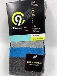 C9 Champion Womens Socks Size 5 9 Outdoor Heavyweight Arch Support Over Calf NEW $10.72