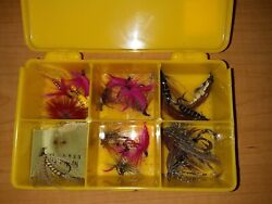 Vintage Fly Box With Fishing Flies $15.00