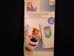 Pets Two 16 Giant Sticker Valentines For ages 3  T5 7 $5.99