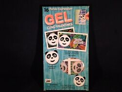 16 Panda Expression Gel Cling Valentines For ages 3  T5 8 $5.99