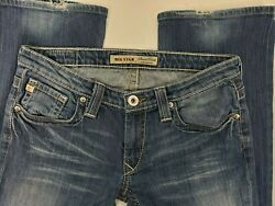 Big Star Womens Sweet Boot Ultra Low Rise Distressed Blue Jeans Size 29 SEE PICS $32.00