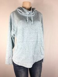 Champion Women Drawstrings Blue Hoodie Sweatshirt Size Large $14.00