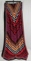 Bailey Blue Sexy Strapless Multi Color Long Maxi Tube Sundress Dress Small $19.49