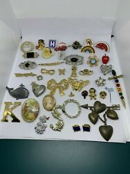 Vintage Modern Brooch Lot Pins Lapel Wear Repurpose Craft Upcycle $11.49