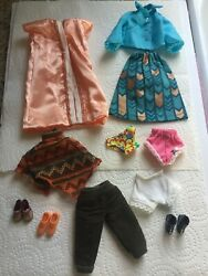 Barbie Doll Clothing Lot Skirt Top Skirt Shoes amp; More $15.99