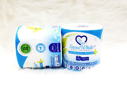 Snow White Eco Friendly 100% Organic Toilet Paper 72 Single Rolls Case $69.00
