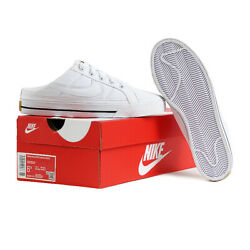 Nike Court Legacy Women#x27;s Mule Shoes Sneakers Casual White DB3970 100 $94.99