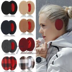 1Pairs Ear Muffs Bandless Ear Warmers Fleece Thick Winter Ear Covers Unisex $2.88