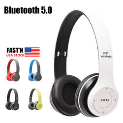 Wireless Noise Cancelling Headphones Bluetooth Over Ear With Microphone Headset $13.20