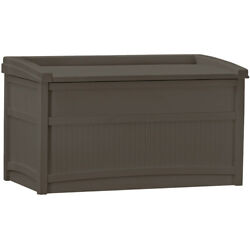 Suncast 50 Gallon Outdoor Resin Deck Storage Box with Seat Java Brown $116.99