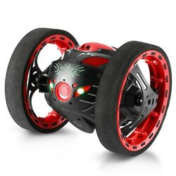 Rechargeable Remote Control Jumping Bounce Car Black Flips Spins amp; Trick Fun Toy $49.39